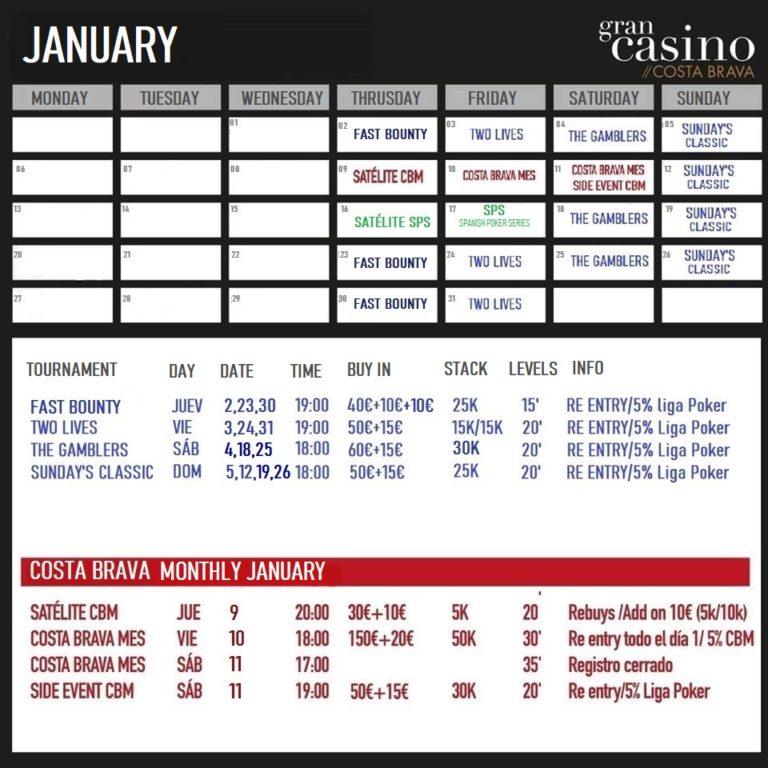 poker calendar barcelona